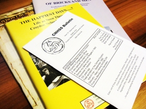 Small pile of Proceedings and Bulletin issue
