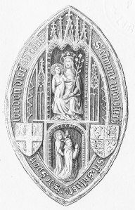 Seal of Abbess & Convent of Syon Monastery [Wikimedia Commons public domain]