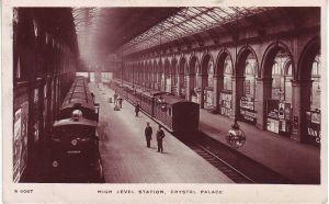 Crystal Palace High Level Station postcard 1908