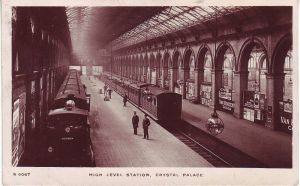 Crystal Palace High Level Station postcard 1908