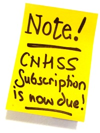 NOTE! CNHSS Subscription is now due!