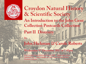 An Introduction to the John Gent Collection Part II Diversity - advertised with an image of George Street Croydon