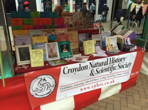 Croydon Natural History & Scientific Society displaying its wares on North End.
